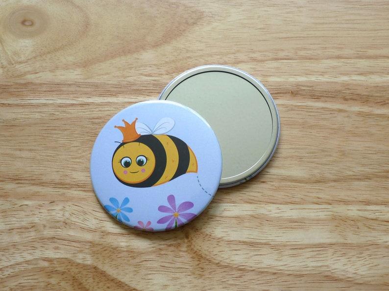 Queen Bee illustrated pocket mirror image 0