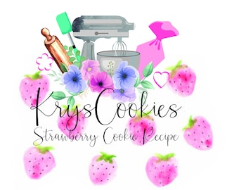 Krys Cookie's Strawberry Cookie Recipe