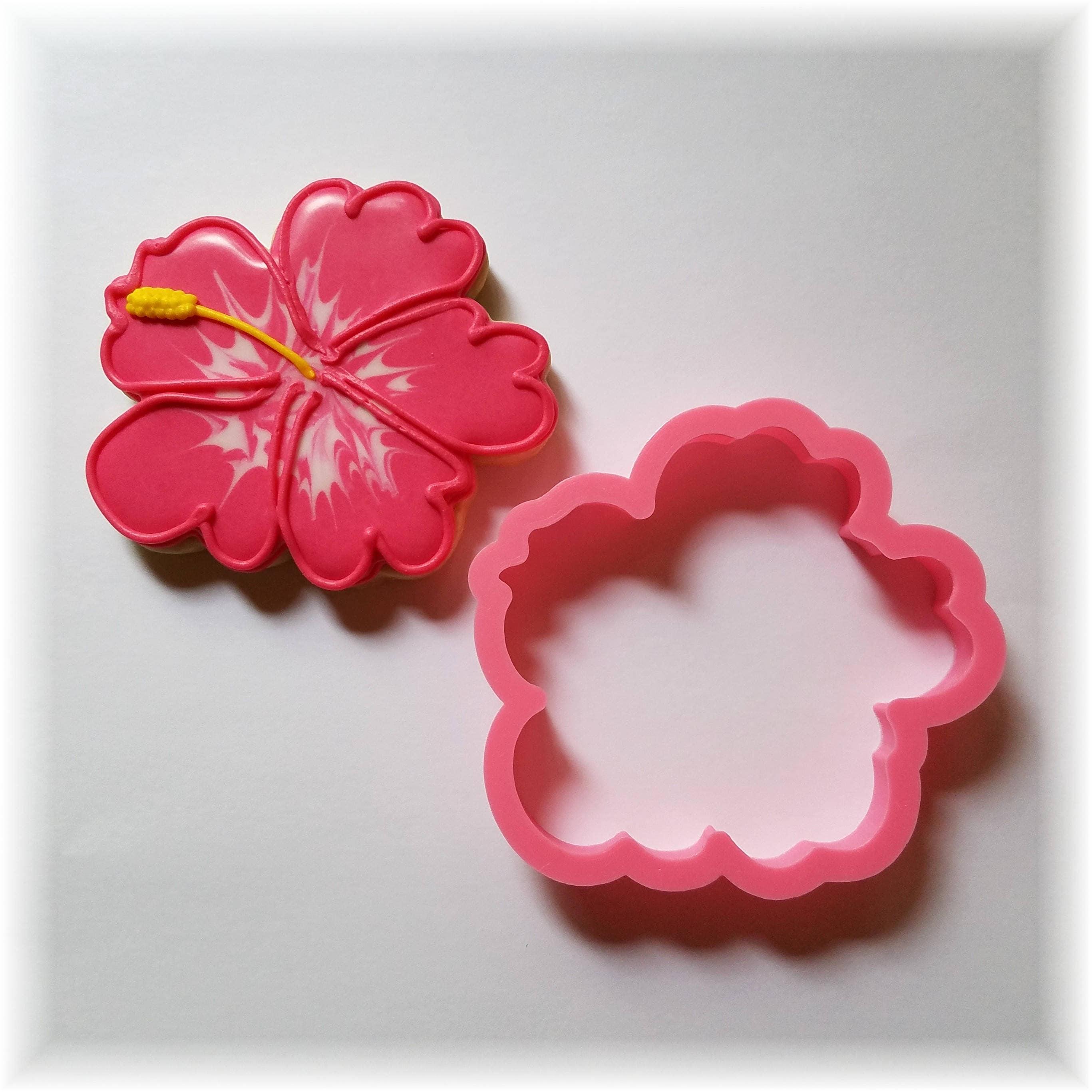 Hawaiian hibiscus flower cookie cutter etsy zoom izmirmasajfo