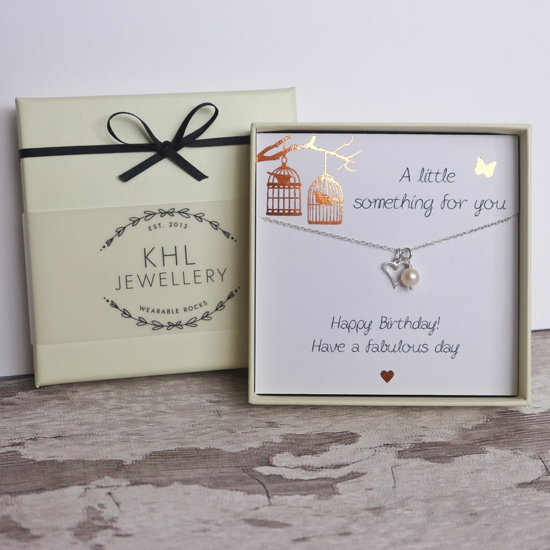Birthday Gift For Her Happy Card Friend Jewelry
