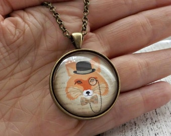Fox Necklace ~ Gift for Her ~ Fox Gift Idea ~ Animal Humor Christmas Gift ~ Unique Necklace ~ Fashion Jewellery ~ Animal Necklace ~ Mr Fox
