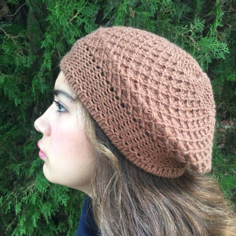 31bc4585 Adorable Alpaca Bonnet Beret Soft Alpaca Yarn Beautiful | Etsy