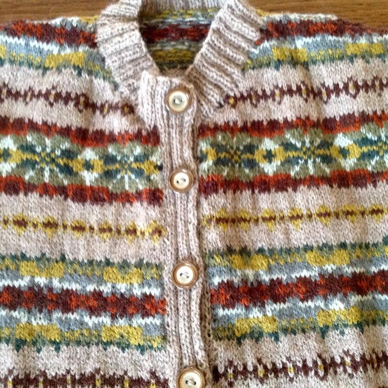 Vintage Style FairIsle Cardigan