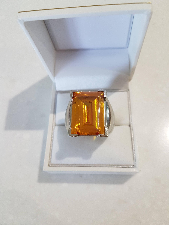 Daniel Swarovski Paris Crystal and Silver Ring