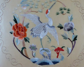 Chinese silk cushion