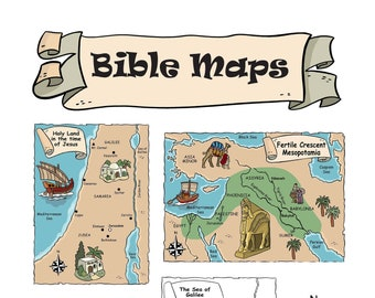 Bible Maps for study and teaching – instant download