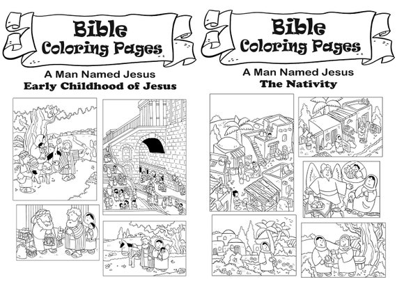 Bible Christmas Coloring Pages - Coloring Home | 411x570
