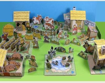 Medieval Village – The Farm – Cut out play set