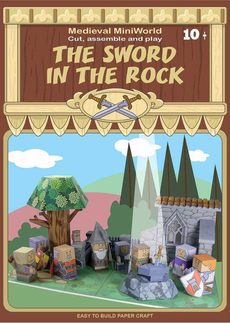 Medieval Miniworld The Sword In The Rock Cut Assemble And Etsy