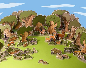 Medieval Village – The Forest – Cut out play set