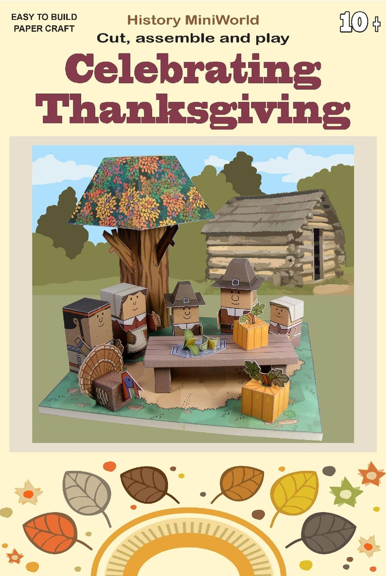 MINIWORLD PAPERTOYS  Celebrating Thanksgiving  Cut assemble image 0