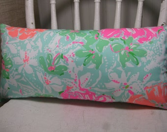 Lilly Pulitzer (Beach Walk) Accent Pillow with INSERT Choose Size / Preppy/Southern /Sorority Gift/Dorm Bedding/Baby Gift
