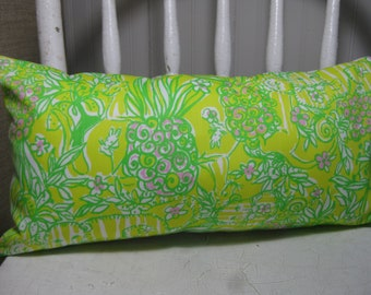 Lilly Pulitzer (Sweet Tart) Accent Pillow with INSERT Choose Size / Preppy/Southern /Sorority Gift/Dorm Bedding/Baby Gift