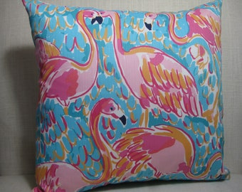 """Lilly Pulitzer Accent Pillow with INSERT (16""""x16"""")  / Peel and Eat Cotton/Preppy/Southern /Sorority Gift/Dorm Bedding/Baby Gift"""