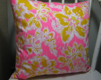 """SAMPLE SALE Lilly Pulitzer Accent Pillow with INSERT (16""""x16"""")/ Oh La La /Preppy/Southern /Sorority Gift/Dorm Bedding/Baby Gift"""