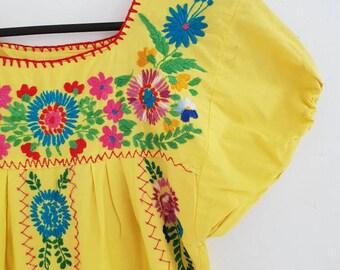 ff79795f77d20 Vintage cotton Mexican dress