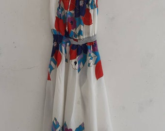 Dress Fits S M L XL XL Sundress Purple Blue Halter Empire Backless NWT 2020 C-2