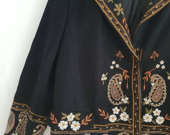 df9cdcba9b Vintage Marina Rinaldi Embroidered Jacket