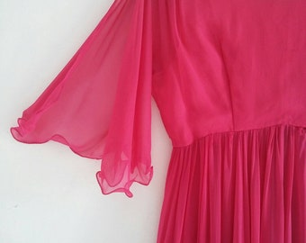 vintage floaty chiffon dress