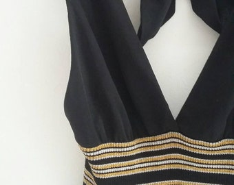 vintage halter neck dress from 70s