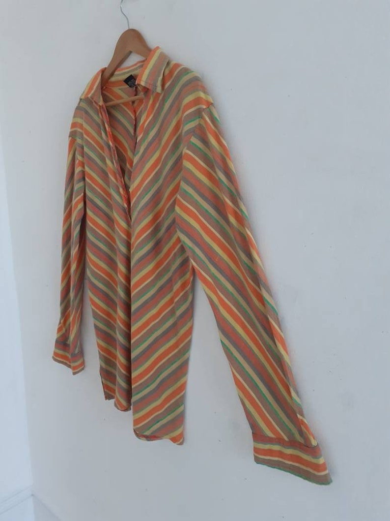 Vintage striped 70s tunic