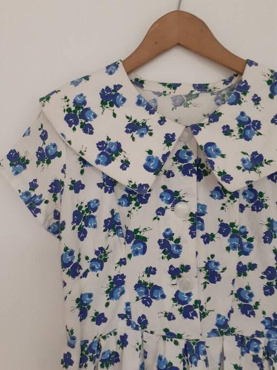 60s cotton floral dress
