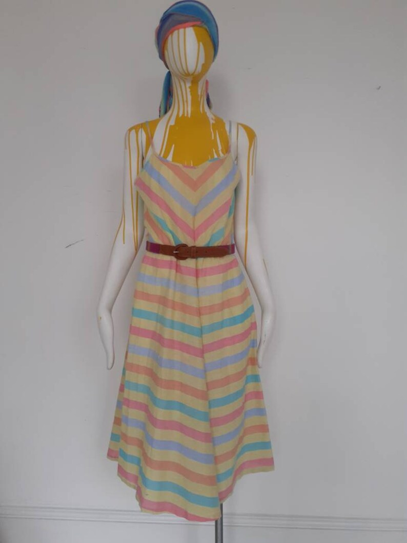 Vintage cotton candy striped dress