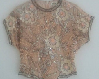 vintage sequin /beaded blouse