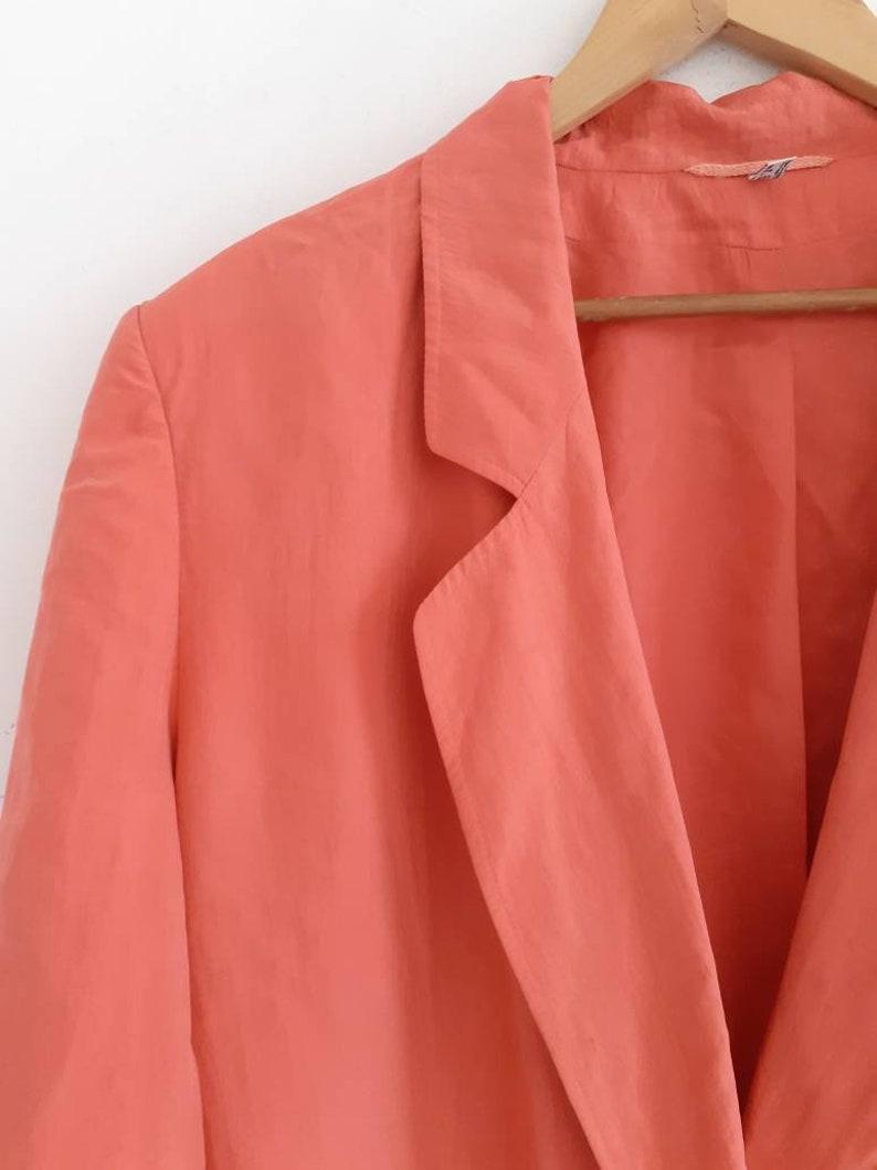 Vintage 80s silk oversized jacket