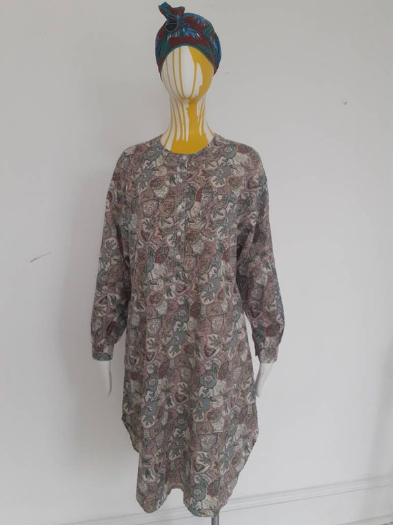 Cotton 70s shirt dress