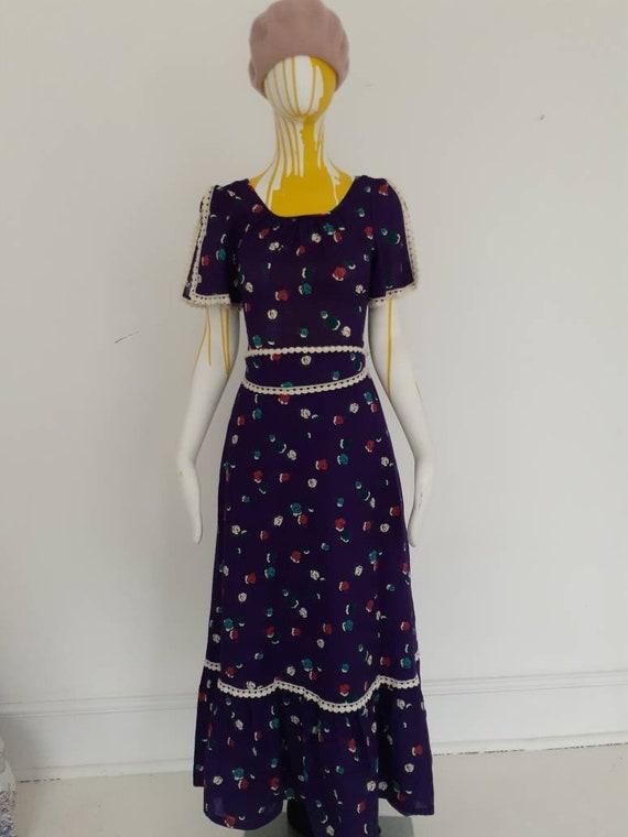 70s cotton maxi dress
