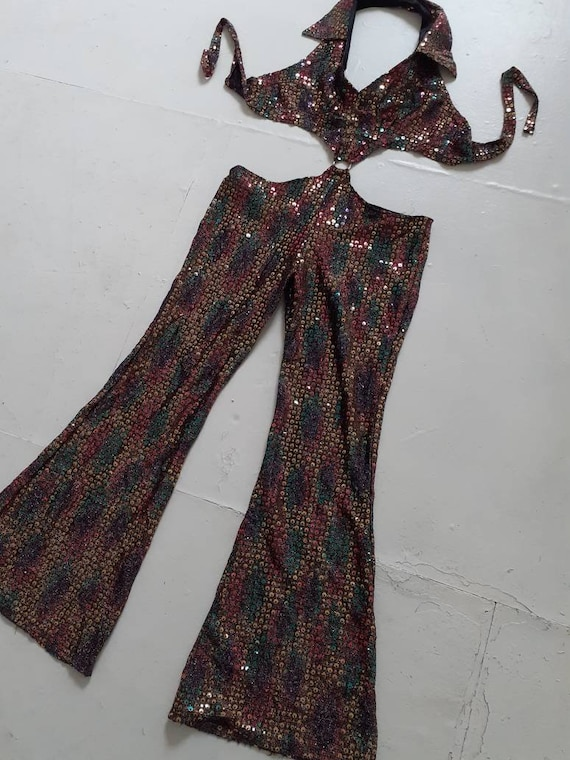 70s sequin jumpsuit