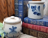 Rowe Pottery Works - Small 2-Handle Crock - Lidded 2-Handle Crock with Lid