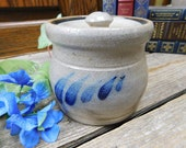 Vintage Rowe Pottery Crock with Lid