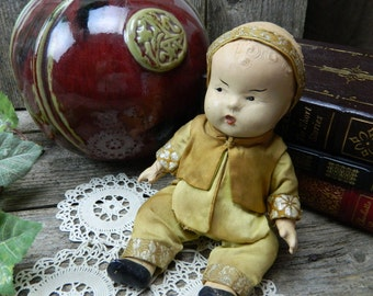 Antique Composition Japanese Doll