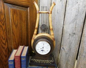 Vintage Maitland - Smith Clock - Bamboo, Metal