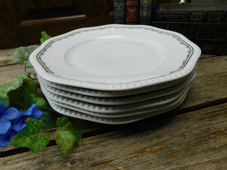 Set of 6 Antique Rosenthal Porcelain Dinner Plates - Bavaria