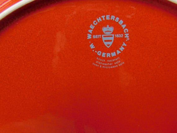 Vintage Waechtersbach 12.25 Diameter Red Christmas Serving Plate