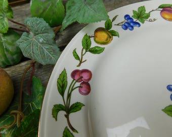 Set of 4 Vintage Homer Laughlin Co. China Orchard Dinner Plates - Eggshell Nautilus
