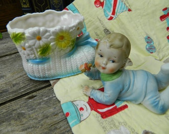 Vintage Baby Shower Decoration Package - Baby Boy