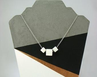 Concrete jewelry | Modern Concrete Necklace | modern necklace | Cement jewelry | Geometric pendant | Modern jewelry | Minimalist jewelry