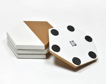 Set de 4 posavasos geométricos de hormigón   Posavasos modernos   regalo de boda   posavasos de cemento   regalo arquitecto   minimalista