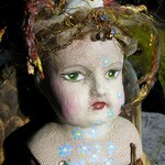 Held For Kathy Sarvis* Bird Brain, Recycled / Found Object ALTERED DOLL Assemblage / Sculpture STEAMPUNK, Collage-a-Dada