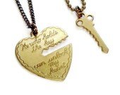 Key To My Heart Necklace Set, Couples Gift, Best Friends Jewelry, His and Hers Set, He Who Holds The Key, Present for Boyfriend