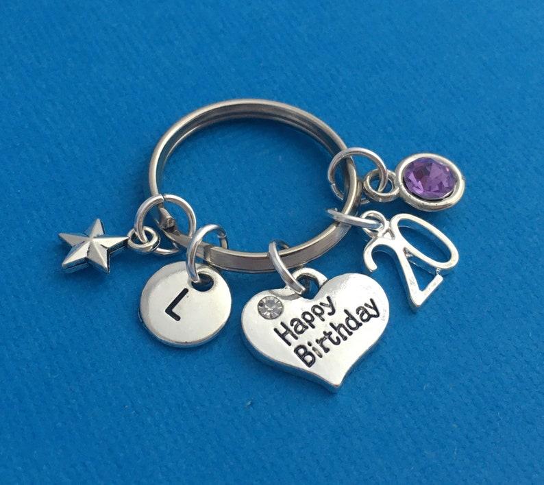 Birthday Gift for Niece Twentieth Birthday Present Personalised 20th Birthday Keyring 20th Birthday gift Best Friend Birthday