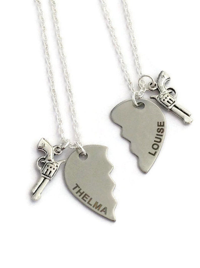 85183c885b 2 Friendship Necklaces Thelma & Louise Jewelry Best Friends   Etsy