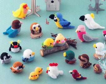 Amigurumi Birds Pattern Ebook in Japanese Kawaii Crochet Doll Bird PDF Penguin, Parrot, Duck, Owl Crochet Craft Instant Download