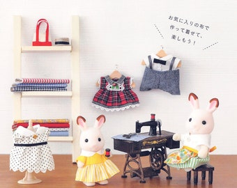 Sylvanian Family 59 Sewing Pattern Doll PDF Instant Download Japanese eBook Tiny Doll Clothes Outfits