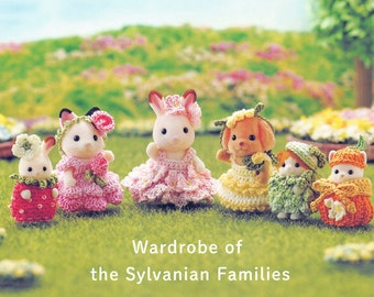 Sylvanian Family 53 Crochet Doll PDF Instant Download Japanese eBook Tiny Doll Clothes Outfits