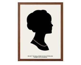 MAD MEN | Joan Harris Poster : Modern Illustration TV Series Retro Art Wall Decor